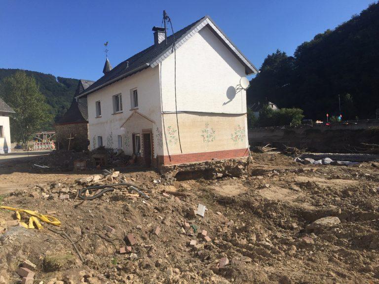 Das Haus wird abgerissen